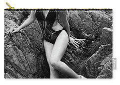 Girl In Black Swimsuit Carry-all Pouch