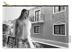 Girl On Balcony Carry-all Pouch