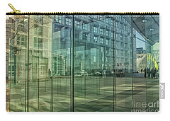 Carry-all Pouch featuring the photograph Glass Panels At Le Grande Arche by Patricia Hofmeester
