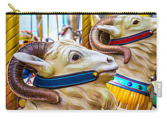 Goat Carrousel Ride Carry-all Pouch by Garry Gay