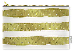 Gold Hearts Stripes Carry-all Pouch