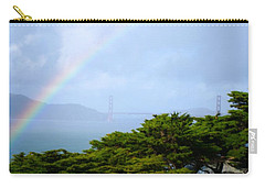Golden Gate Bridge By Rainbow Carry-all Pouch