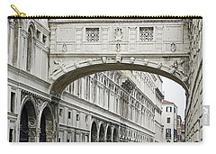 Gondolas Going Under The Bridge Of Sighs In Venice Italy Carry-all Pouch
