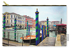 Carry-all Pouch featuring the photograph Grand Canal In Venice # 2 by Mel Steinhauer