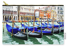 Carry-all Pouch featuring the photograph Grand Canal In Venice by Mel Steinhauer