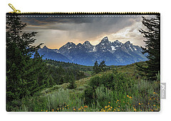 Carry-all Pouch featuring the photograph Grand Stormy Sunset by David Chandler