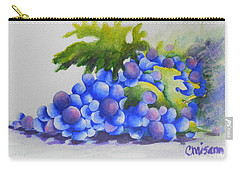 Carry-all Pouch featuring the painting Grapes by Chrisann Ellis