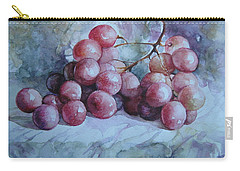 Carry-all Pouch featuring the painting Grapes... by Elena Oleniuc