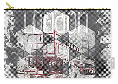 Graphic Art London Streetscene Carry-all Pouch by Melanie Viola