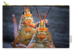 Grasshoppers In Love Carry-all Pouch by Mark Andrew Thomas