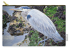Carry-all Pouch featuring the photograph Great Blue Heron by AJ Schibig