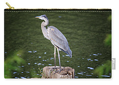 Carry-all Pouch featuring the photograph Great Blue Heron by Gary Hall