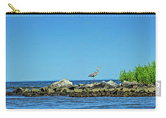 Great Blue Heron On The Chesapeake Bay Carry-all Pouch
