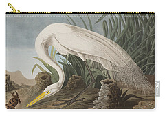 Great Egret Carry-all Pouch by John James Audubon