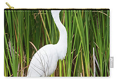 Great Egret Carry-all Pouch by Ricky L Jones