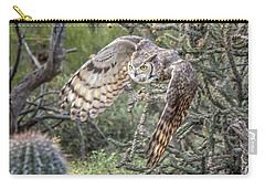 Great Horned Owl Carry-all Pouch by Tam Ryan