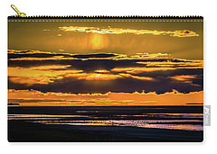 Carry-all Pouch featuring the photograph Great Salt Lake Sunset by Bryan Carter
