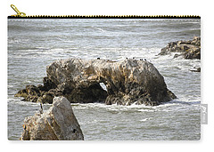 Carry-all Pouch featuring the photograph Grey Water At Window Rock by Barbara Snyder