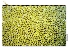 Carry-all Pouch featuring the photograph Grooved Brain Coral by Perla Copernik
