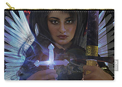Carry-all Pouch featuring the painting Guardian Angel 8 by Suzanne Silvir