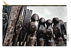 Carry-all Pouch featuring the photograph Hammer Heads  by Wilma Birdwell