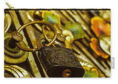 Carry-all Pouch featuring the photograph Hand Carved Security by T Brian Jones