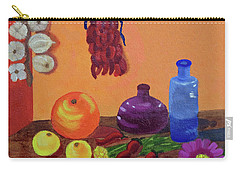 Carry-all Pouch featuring the painting Hanging Around With Spices by Margaret Harmon