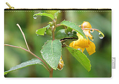 Carry-all Pouch featuring the photograph Hanging In There by I'ina Van Lawick