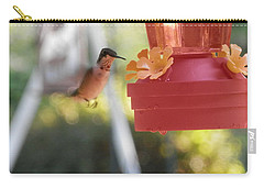 Happy Hummingbird Carry-all Pouch by Belinda Lee
