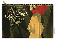 Carry-all Pouch featuring the digital art Happy Valentines Day by Jeff Burgess