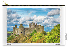 Carry-all Pouch featuring the photograph Harlech Castle by R Thomas Berner