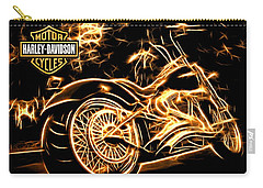 Carry-all Pouch featuring the photograph Harley-davidson by Aaron Berg