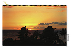 Carry-all Pouch featuring the photograph Hawaiian Sunset by Anthony Jones
