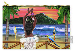 Hawaiian Sunset Hula Carry-all Pouch by Glenn Holbrook