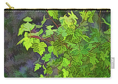 Hawthorn Leaves In Green Carry-all Pouch