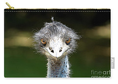 Head Of Ostrich Carry-all Pouch
