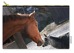 Carry-all Pouch featuring the photograph Hello Friend by Angela Rath