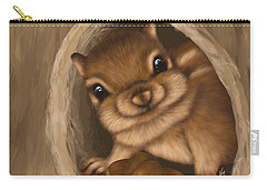Carry-all Pouch featuring the painting Hello by Veronica Minozzi