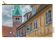 Carry-all Pouch featuring the photograph Helsingor Narrow Street by Antony McAulay