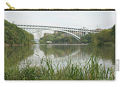 Carry-all Pouch featuring the photograph Henry Hudson Bridge by Cole Thompson