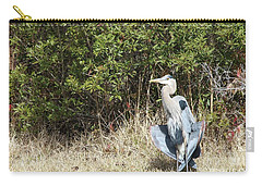 Carry-all Pouch featuring the photograph Henry The Heron by Benanne Stiens