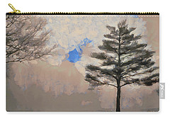 Carry-all Pouch featuring the mixed media Hickory by Trish Tritz