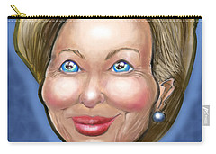 Hillary Clinton Caricature Carry-all Pouch