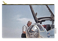 Hl-10 On Lakebed With B-52 Flyby Panel 1 Carry-all Pouch by Celestial Images