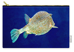 Carry-all Pouch featuring the photograph Honeycomb Cowfish by Perla Copernik