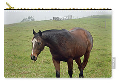 Horse In The Fog Carry-all Pouch by Pamela Walton