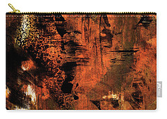 Hot Desert Night - Abstract Landscape Desert Painting Carry-all Pouch