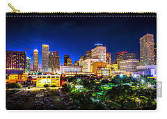Carry-all Pouch featuring the photograph Houston City Lights by David Morefield