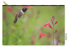 Hummingbird And Sage Carry-all Pouch