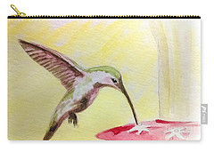 Hummingbird Carry-all Pouch by Stacy C Bottoms